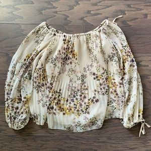 Wilfred Floral off-shoulder blouse